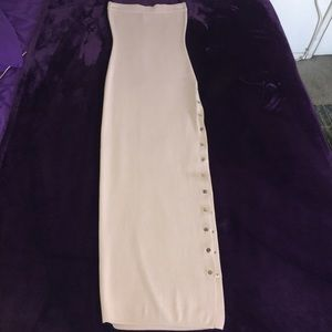 Lilac long lined tube dress